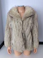 SAGA Fox London Vintage fur abrigo chaqueta tamaño 14 para Mujer
