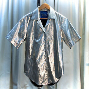 Simon Miller Dade Metallic Silver Shirt Size Small New with Tags