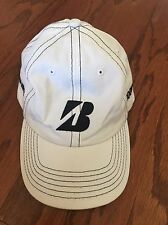 NEW Bridgestone Tom Heck Adjustable Golf Hat Cap - White