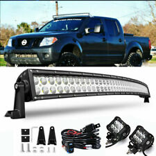 "50.5"" Curved LED Light Bar Upper Roof +Free Wiring For 2005-2016 Nissan Frontier"