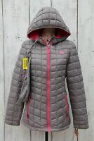 REEBOK Glacier Shield Women Sz M NEW Gray Pink Packable Puffer Jacket Coat/ $145