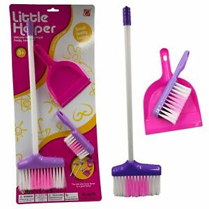 Kids Cleaning Set Childrens Toy Broom & Dustpan & Brush Role Play House Home Kit