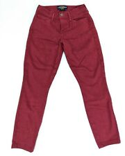 Lucky Brand Jeans Womens Size 6/28 Ankle Jeans Maroon Red Sofia Skinny