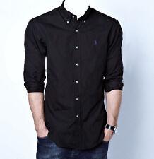 Polo Ralph Lauren Custom Fit Camisa Negra/Tamaño Grande