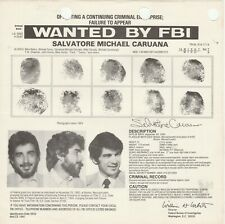 FBI WANTED POSTER SALVATORE MICHAEL CARUANA-OPERATING CRIMINAL OPERATION 11-25-8