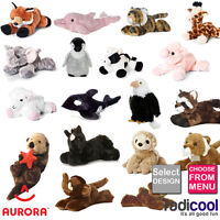 Aurora MINI FLOPSIE PLUSH Cuddly Soft Toy Teddy Kids Gift Brand New