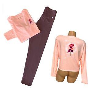 Victorias Secret PINK 🎀 Tshirt Tee High Waist Leggings Pants Set Size Medium