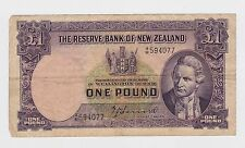 New Zealand -  One (1) Pound, 1967