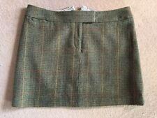 Joules 100% Wool Green Tweed Skirt Size 18
