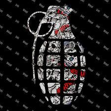 "10"" Grenade Vinyl Decal skull stickerbomb Jdm stickers illest Stance vip race"