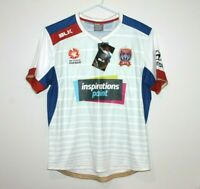 Newcastle Jets BLK On Field Away 2016 Jersey Size Men's 2XL XXL