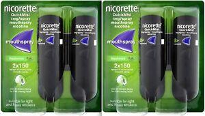 2x Duo Pack NICORETTE QuickMist 1 mg Mouthspray Freshmint