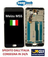 "LCD Display Touch Screen FRAME CORNICE  Assembly MEIZU M5S MEILAN 5,2"" M612 NERO"