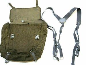 ARMY SURPLUS EAST GERMAN MILITARY BACKPACK RAIN CAMO BAG RUCKSACK COMBAT PACK
