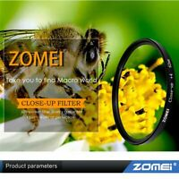ZOMEI Macro Close-Up Lens Filter+2 +8 +10 Filter 49mm f/ Canon Nikon Sony DSLR
