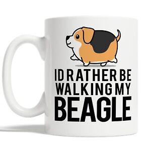 Id Rather Be Walking My Beagle Mug Coffee Cup Gift Idea Dog Owner Funny Pet Joke