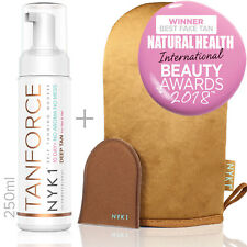 Tan Force Fake Tan Foam and Mega Mitt Tanning Value Kit Golden Skin Bronzer