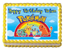 POKEMON Party Edible image Cake topper decoration - personalized free!