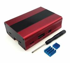 Eleduino Raspberry Pi 3 ,Pi 2, B+ Aluminum Alloy Case Enclosure with Red