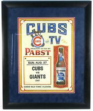 RARE 1970'S CHICAGO CUBS VINTAGE PBR PABST BLUE RIBBON CALENDAR FRAMED