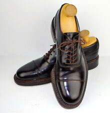 Calzoleria Harris Mans hand made Leather shoe 10 Medium Brown Captoe Derby Italy