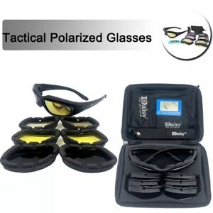Daisy US Army Polarised Tactical 4 Lens Set Hunting Fishing Sport Sunglasses UK