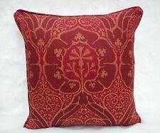 William Morris Fabric Cushion Cover 'Voysey' Red - Linen Blend - DMFPVO202