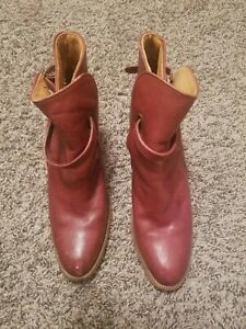 Frye ankle boots 8.5 womens cognac