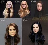 "KIMI TOYS 1/6 Female Head Sculpt Carving Model Toy PVC for 12"" Figure Action"