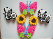 Clog Shoe Charm Plug For Accessorie For Wristband Butterfly Flower