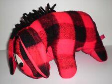 Vintage Red Plaid Flannel Wool? Eeyore Winnie The Pooh Donkey Plush Stuffed Toy