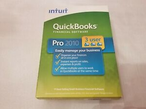 New Intuit QuickBooks Pro 2010 - 3 User Edition Full Retail for Windows Users