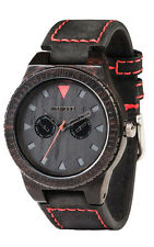 WEWOOD Men's Leo Terra Black Blackwood Leather Watch WLTEBL