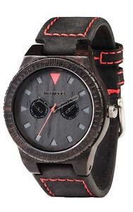 WEWOOD Men's Leo Terra Black Blackwood Leather Watch WLTEBL