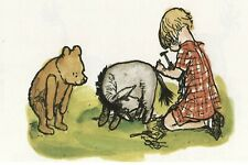 Framed Print - Classic Winnie the Pooh Eeyore Christopher Robin (Picture Poster)