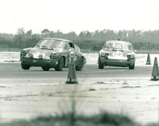 Vintage 8 X 10 1969 Sebring Peter Gregg Porsche 911 Auto Racing Photo