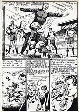 FINALE DE COUPE FOOTBALL (ROBERT HUGUES) PLANCHE ORIGINALE PILAR SANTOS PAGE 30