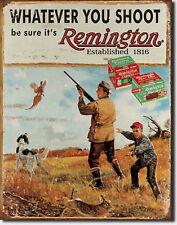 Remington Shotgun Shells Whatever You. Metal Sign Tin New Vintage Style #1412