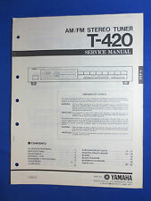YAMAHA T-420 TUNER SERVICE MANUAL ORIGINAL FACTORY ISSUE