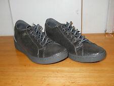 DKNY New Womens Ivy Gunmetal Lizard Foil Sneakers 10 M Shoes NWB