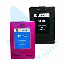 2 PACK New 61XL 61 Ink Cartridges for HP DeskJet 1510 2540 2545 1512 2510 3512