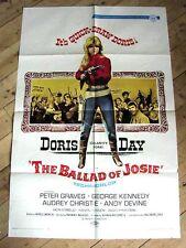 THE BALLAD OF JOSIE Original Movie Poster DORIS DAY PETER GRAVES GEORGE KENNEDY