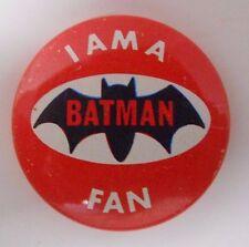 VINTAGE! 1966 Creative House Batman Pinback Button Pin-I am a Batman Fan-C5