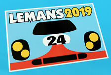 LE MANS 24 HOURS 2019 PAIR of '24' 917 retro style stickers decals 300mm wide