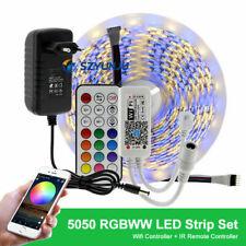 RGB RGBW LED Strip DC12V LED Strip 5050 5m 300LEDs +WIFI / Bt Controller + power