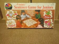 Scrabble Sentence Game for Juniors Selchow & Righter 1981 SEALED NEW VINTAGE
