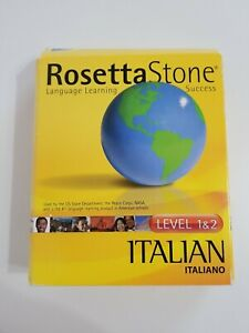 Rosetta Stone ITALIAN Level 1 & 2  Ages 6 to Adult Personal Edition