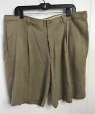 Tommy Bahama Relax 100% Silk Shorts Tan sz 38