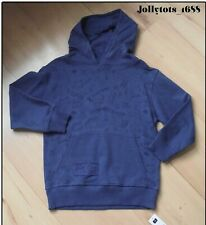 New Boys Blue Hoodie Top Novelty Skater Hooded Jumper With Pockets Age 8 Years