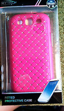 Bytech Samsung Galaxy S lll Fitted Protective Case Pink with Rhinestones B400